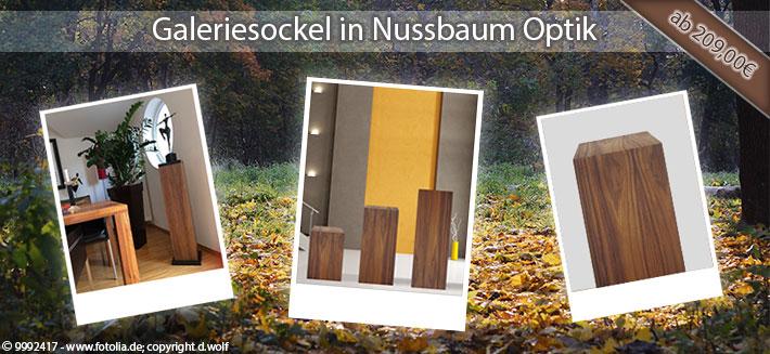 Nussbaum Sockel
