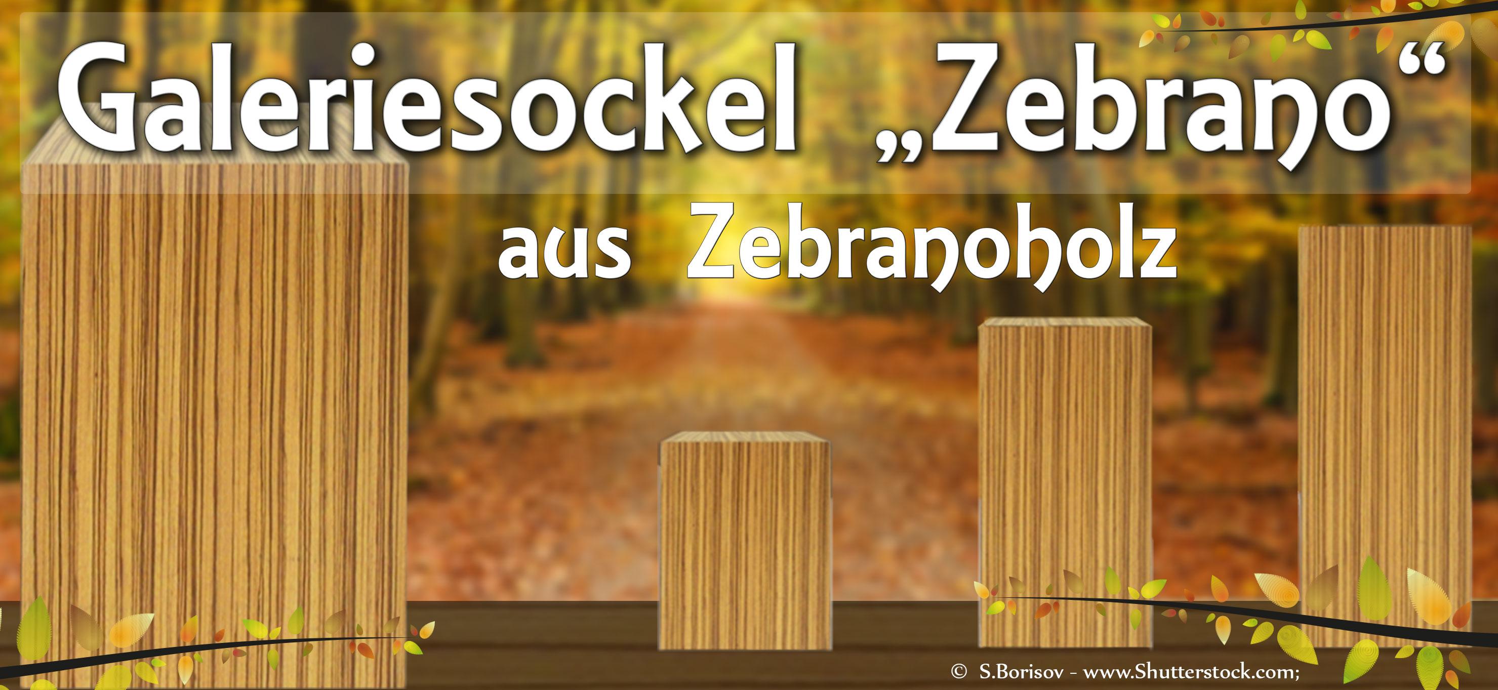 Zebrano-sockel