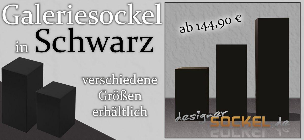 Galeriesockel Schwarz