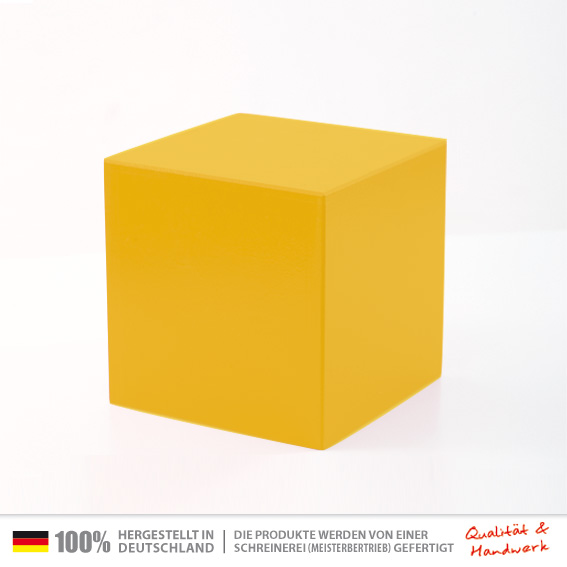 Galeriesockel gelb 30x30x30cm holzwuerfel gelb 30 x 30 cm universal sitzw rfel tischw rfel - Couchtisch gelb ...
