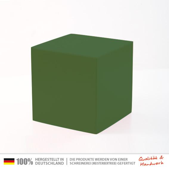 sitzwuerfel gr n 30 x 30 cm universal sitzw rfel tischw rfel holzw rfel hocker. Black Bedroom Furniture Sets. Home Design Ideas