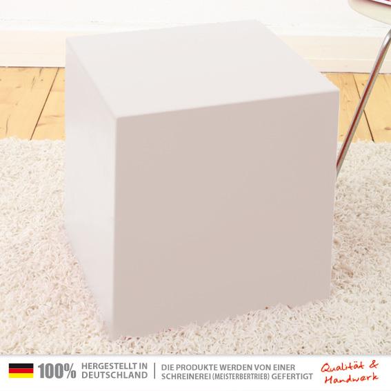 40 X 40 X 45 Cm Weiß Universal Sitzwürfel Tischwürfel Holzwürfel